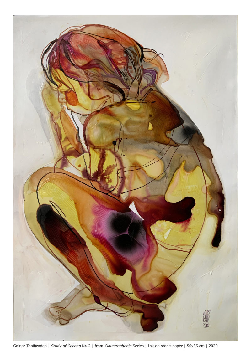 Study of Cocoon Nr. 2 from Claustrophobia Series