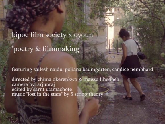 Poetry & Filmmaking I Bipoc Film Society
