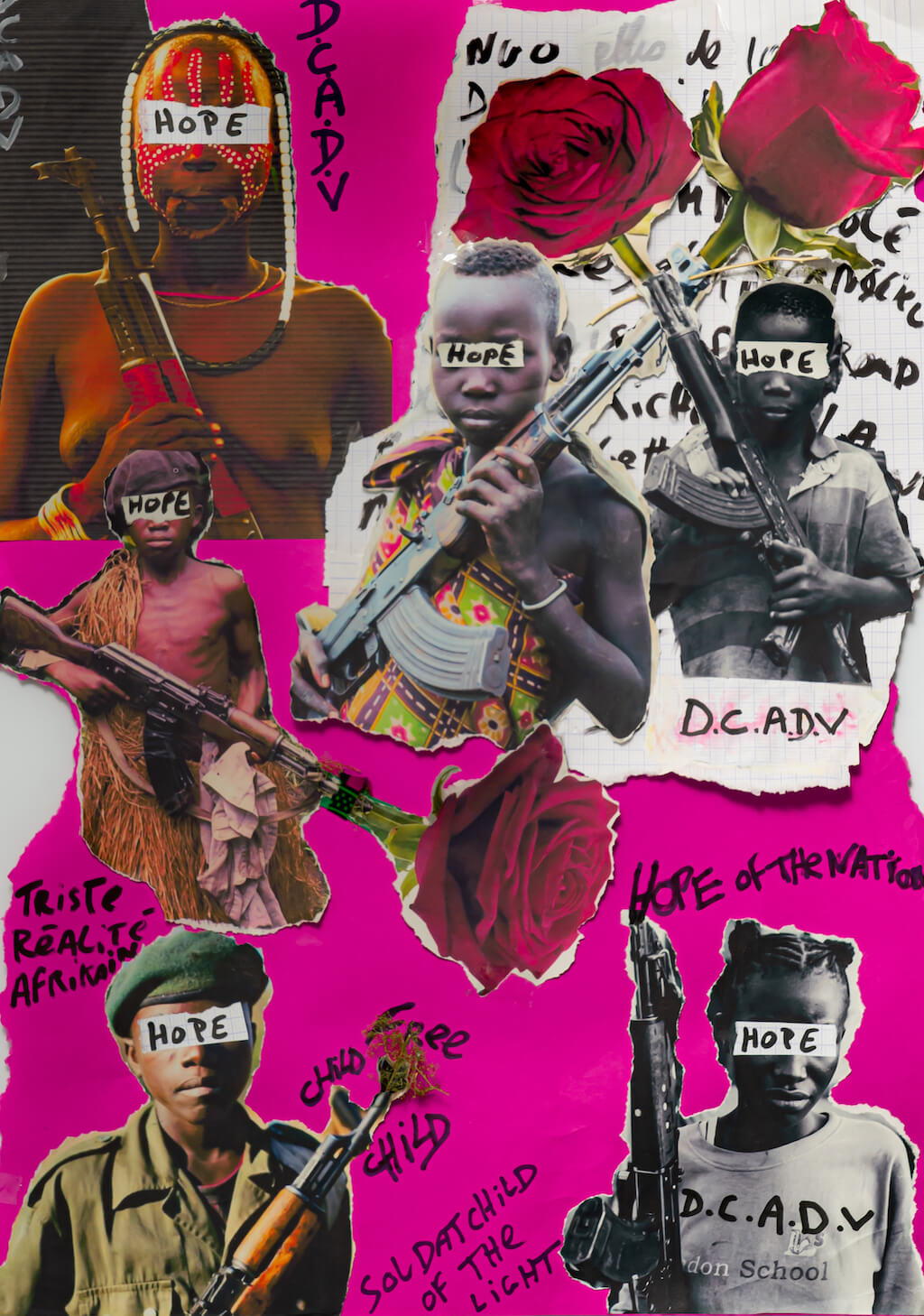 Exocé Kasongo, Soldier Child, print on demand, 2021